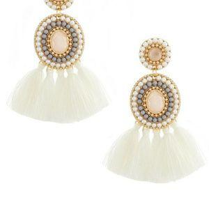 Anna & Ava Multi Beaded Statement Tassel Earrings